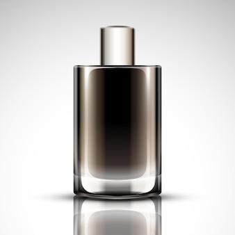 Maquette de bouteille de parfum, bouteille cosmétique vierge en illustration 3d