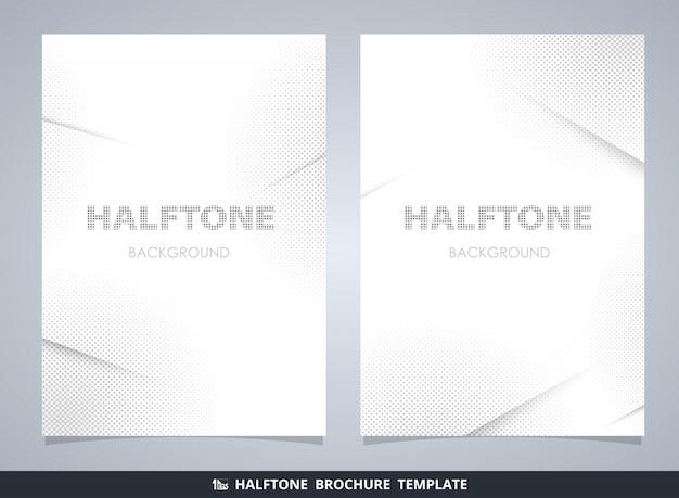 Maquette de brochure abstraite de demi-teintes modernes en gris décorant le fond
