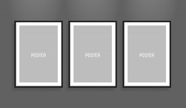 Maquette de cadre en papier vecteur vide de format a4 blanc. montrez vos dépliants, brochures, titres, etc. avec cet élément de modèle de conception réaliste très détaillé