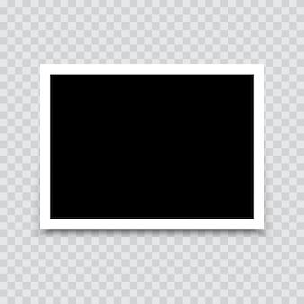Maquette de cadre photo vide avec une ombre. vecteur.