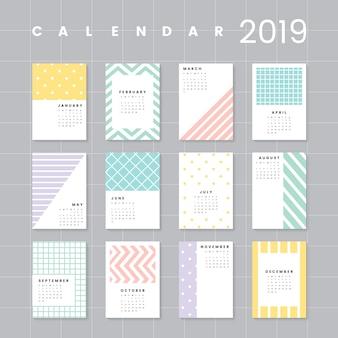 Maquette de calendrier coloré