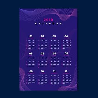Maquette de calendrier de conception de contour