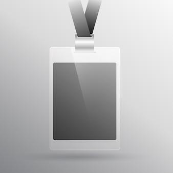 Maquette de carte d'identité d'accès au bureau