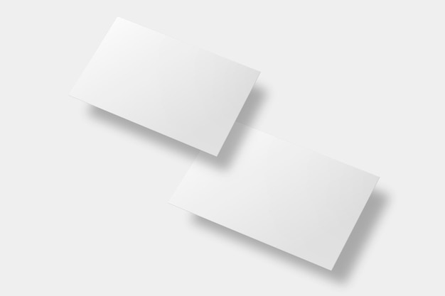 Maquette de carte de visite vierge en ton blanc avec vue avant et arrière