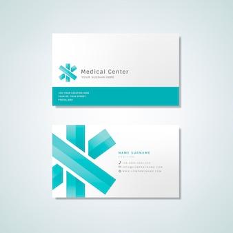 Maquette de conception de carte de visite professionnelle médicale