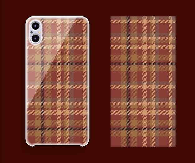 Maquette de conception de couverture de smartphone.