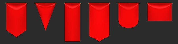 Maquette de drapeaux de fanion rouge