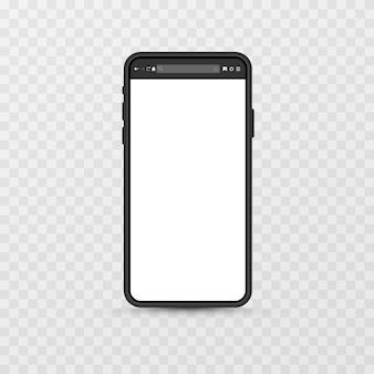 Maquette d'écran de l'appareil sur fond transparent