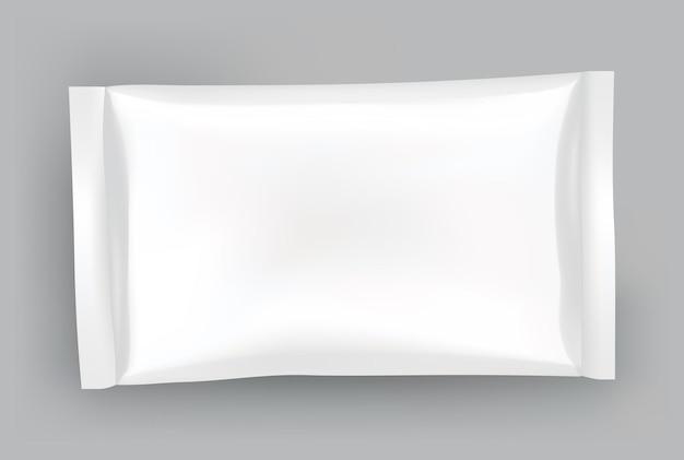 Maquette d'emballage ou modèle de pochette. blanc brillant réaliste de doy pack