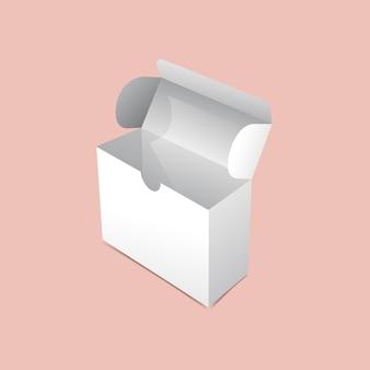 Maquette d'emballage à rabat
