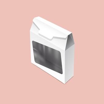 Maquette d'emballage de sac en fer blanc