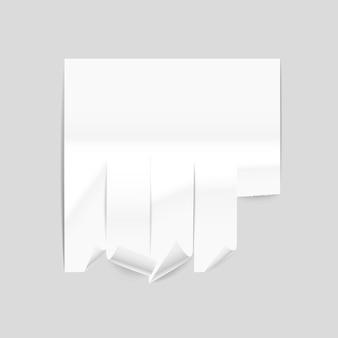 Maquette de feuille de publicité en papier de vecteur illustration vectorielle