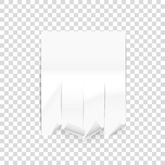 Maquette de feuille de publicité papier vecteur isolé sur fond transparent. illustration vectorielle