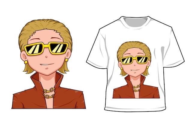 Maquette homme riche blond