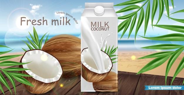 Maquette de lait de coco