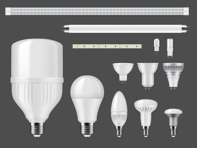 Maquette de lampes à led et de bandes lumineuses