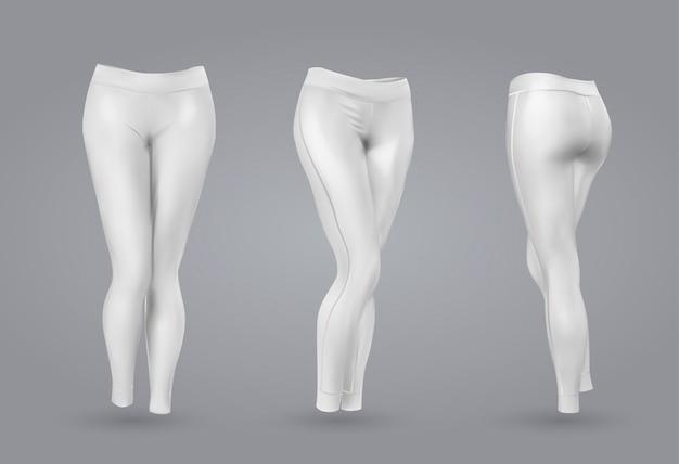 Maquette de leggings blancs pour femmes.