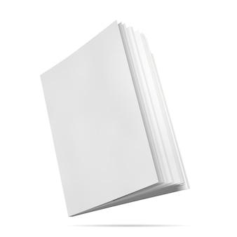 Maquette de livre couverture vierge illustration vectorielle de la vue latérale du bloc-notes avec des pages