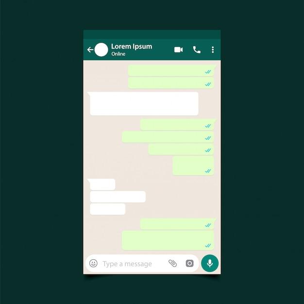 Maquette de messager mobile. message de réseau social