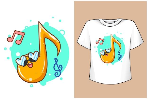 Maquette de notes de musique mignonnes