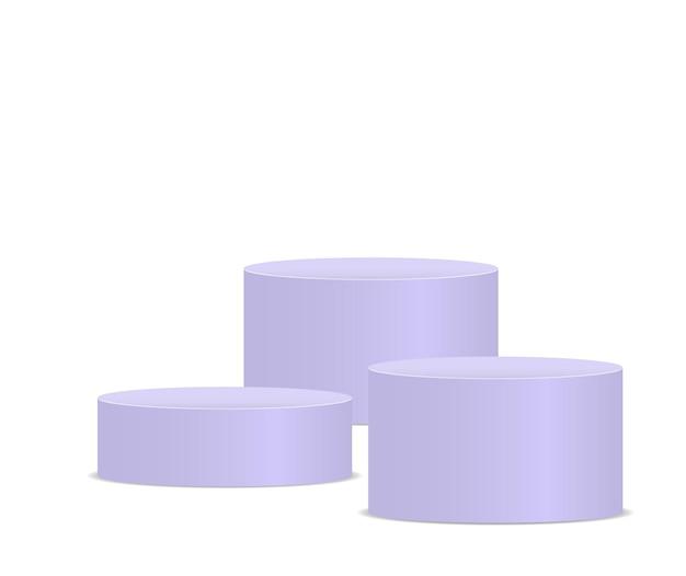 Maquette de podium 3d blanc sous différentes formes