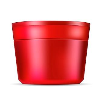 Maquette de pot cosmétique pour crème, pommade, poudre