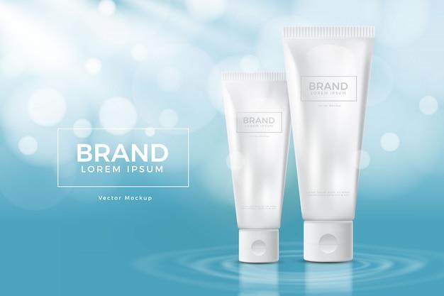 Maquette de produit cosmétique