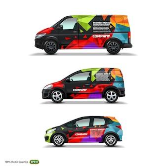 Maquette avec publicité sur black car