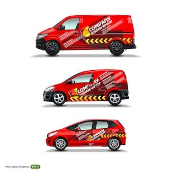 Maquette avec publicité sur red car