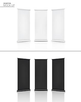 Maquette réaliste d'exposition de cabine de pop d'affichage de kiosque 3d