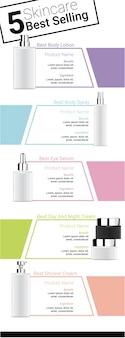Maquette réaliste de la meilleure bouteille de produit de beauté pour le soin de la peau
