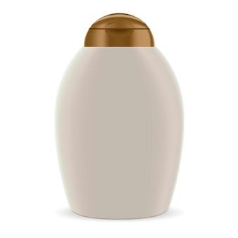 Maquette de shampooing cosmétique pour bouteille ovale