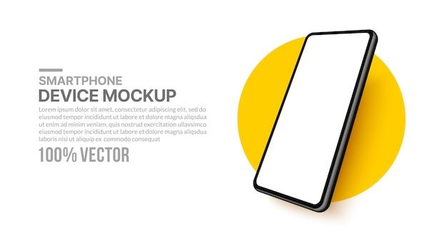 Maquette de smartphone 3d réaliste avec écran vide pour le développement d'applications et la conception d'interface utilisateur ux