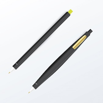 Maquette de stylo. concept graphique pour votre conception