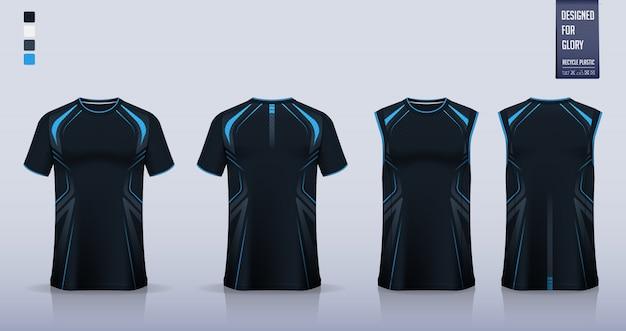 Maquette de t-shirt, conception de modèle de chemise de sport pour maillot de football