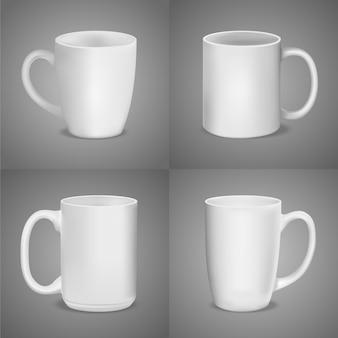 Maquette de tasse isolée sur gris