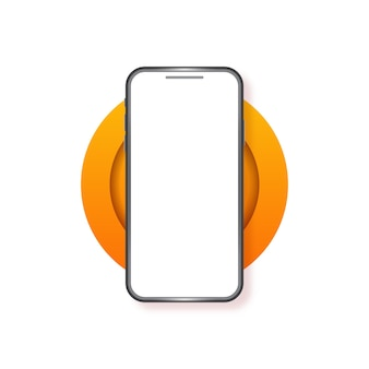 Maquette de téléphone à écran vide pour smartphone