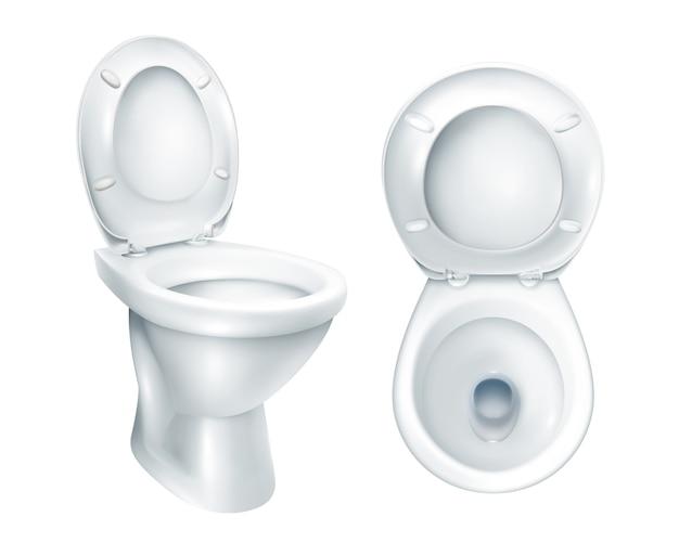 Maquette de toilette réaliste