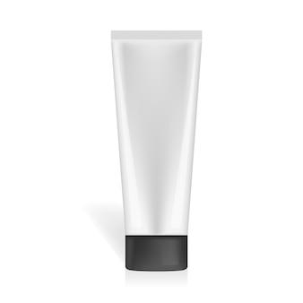 Maquette de tube cosmétique ou médical de vecteur réaliste