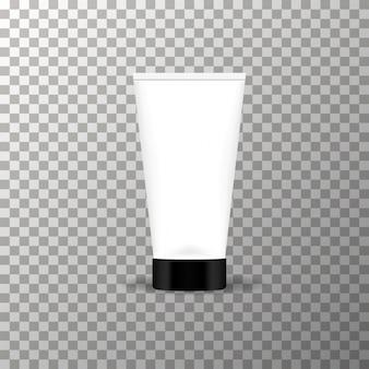 Maquette de tube de crème sur le fond transparent vector.