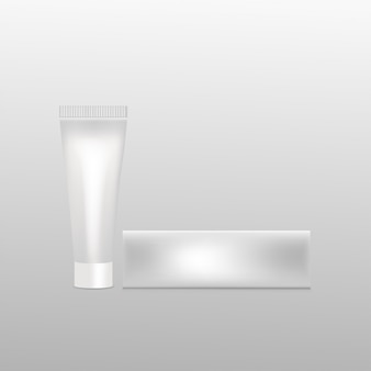 Maquette de tube en plastique avec boîte
