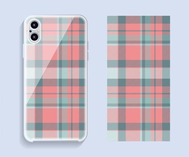 Maquette de vecteur de conception de couverture de smartphone.