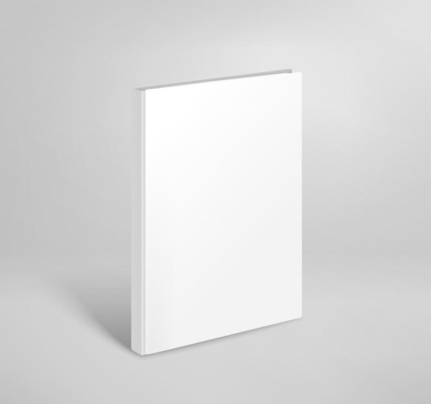 Maquette de vecteur de livre mince vierge 3d. modèle de livre papier