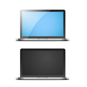 Maquette de vecteur pour ordinateur portable moderne