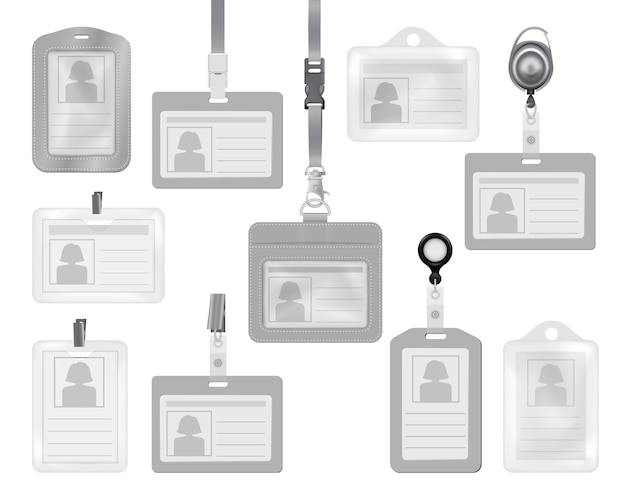 Maquettes de carte d'identité pour le web