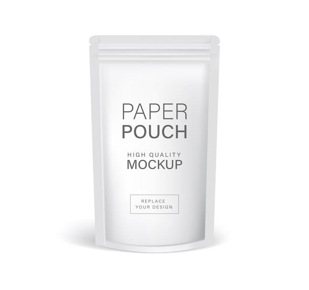 Maquettes d'emballage de sac à fermeture à glissière en papier