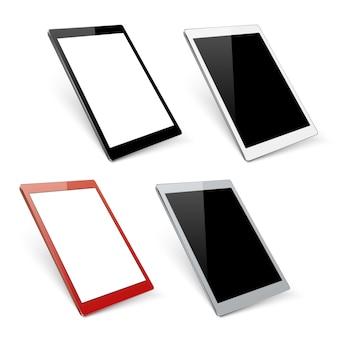Maquettes de tablettes vectorielles varicolores