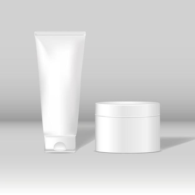 Maquettes de tubes cosmétiques et de pots