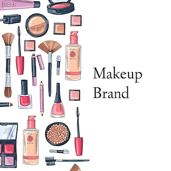 Maquillage carte de marque
