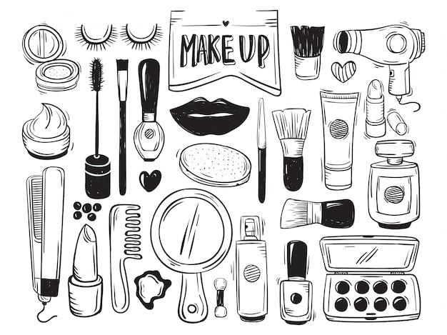 Maquillage et doodle cosmétique